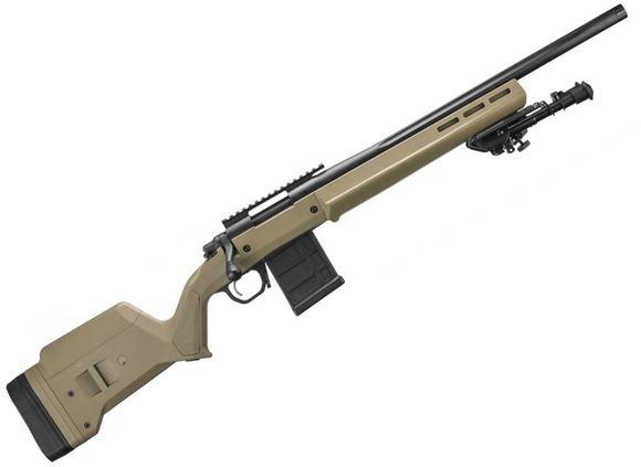 "Picture of Remington Model 700 Magpul Enhanced Bolt Action Rifle - 6.5 Creedmoor, 20"", Heavy-Contour Fluted Barrel, 5/8-24 Threaded, 1:8"", Black Cerakote, FDE Magpul Hunter Stock, 10rds, X-Mark Pro Adjustable Trigger"