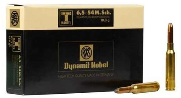 Picture of RWS Rottweil T Mantel Hunting Rifle Ammo - 6.5x54 Mannlicher Schonauer, 159Gr, Soft Point, 20rds Box