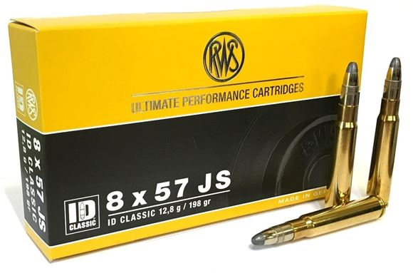 Picture of RWS Rottweil ID Classic Hunting Rifle Ammo - 8x57mm JS, 198Gr, Soft Point Double Core, 20rds Box