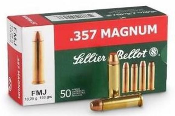 Picture of Sellier & Bellot Pistol & Revolver Ammo - 357 Mag, 158Gr, FMJ, 50rds Box