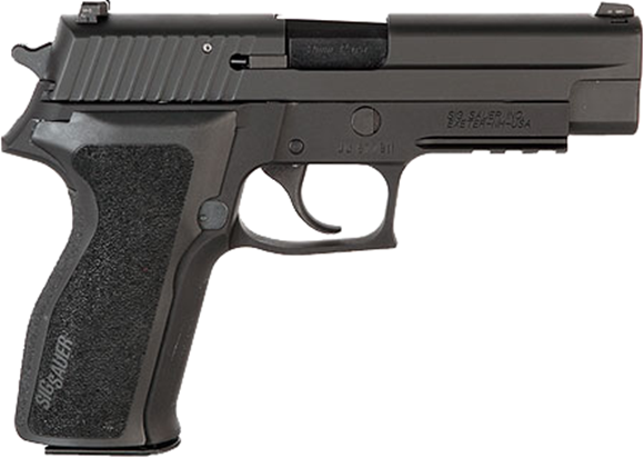 "Picture of SIG SAUER P226 DA/SA Semi-Auto Pistol - .40S&W, 4.4"", Black Stainless Steel, Polymer Grips, 2x10rds, Night Sights, Rail"