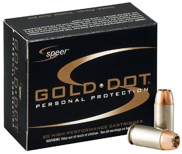 Picture of Speer Gold Dot Personal Protection Handgun Ammo - 9mm Luger, 124Gr, GDHP, 20rds Box