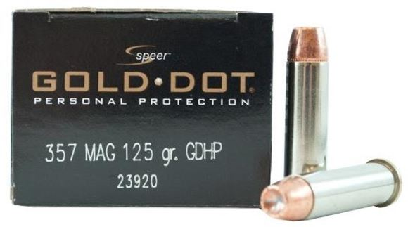 Picture of Speer Gold Dot Personal Protection Handgun Ammo - 357 Mag, 125Gr, GDHP, 20rds Box