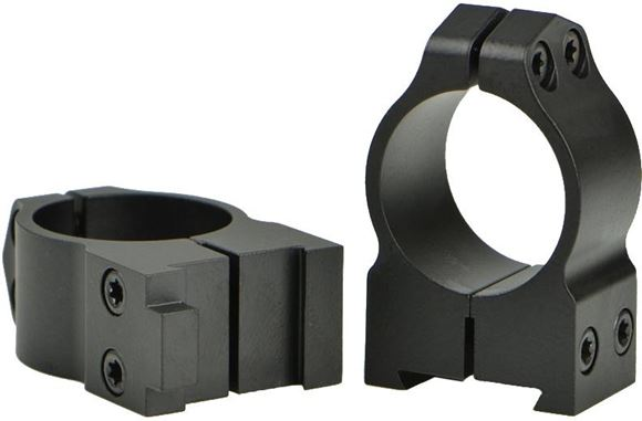 """Picture of Warne Scope Mounts Rings, CZ - For CZ 527 (16mm Dovetail), 1"""", Quick Detach, High, Matte"""