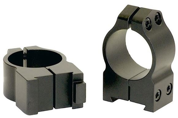 "Picture of Warne Scope Mounts Rings, CZ - For CZ 550 (19mm Dovetail), 1"", High (.535""), Matte"