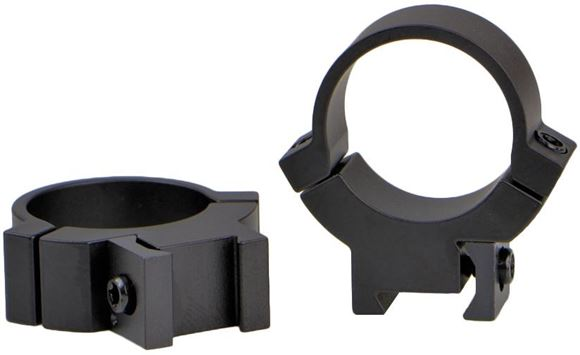 "Picture of Warne Scope Mounts Rings - Maxima Rimfire - 1"", Medium, Matte, Fits 3/8"" & 11mm Dovetails"