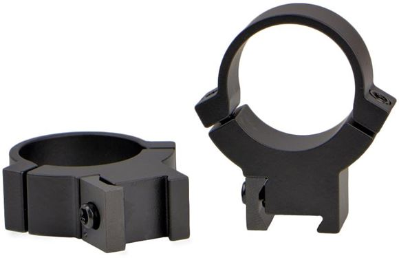 "Picture of Warne Scope Mounts Rings - Maxima Rimfire - 1"", High, Matte, Fits 3/8"" & 11mm Dovetails"