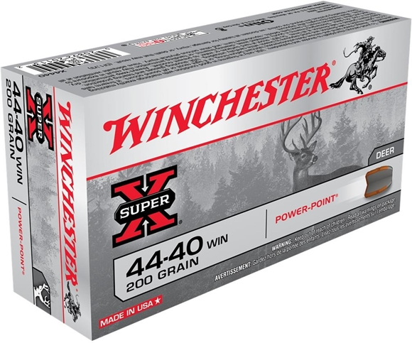 Picture of Winchester Super-X Power-Point Rifle Ammo - 44-40 Win, 200Gr, Power-Point, 50rds Box