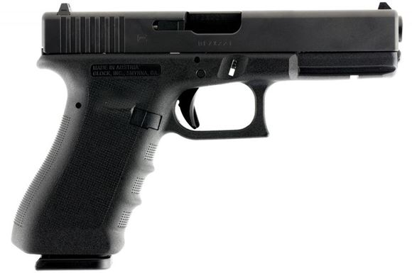 "Picture of Glock 17 RTF2 GEN 3 Standard Safe Action Semi-Auto Pistol - 9mm, 4.48"", Rough Textured Frame (RTF) Polymer, Black, 2x10rds, Fixed Sight"