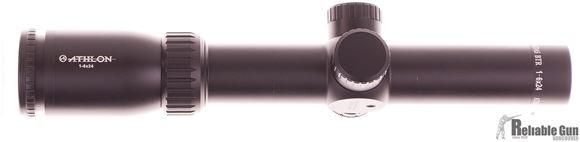 Picture of Used Athlon Rifle Scope 1-6x24 ATSR16 SFP IR MOA Reticle, 30mm Tube, .5 MOA Click Value, Minor Ring Mark, w/Nikon P-Series Rings, Original Box,Very Good Condition