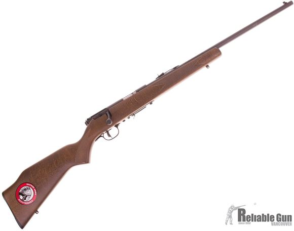 Picture of Used Savage 93 G Bolt Action Rifle, 22 WMR, Wood Stock, 21''  Barrel w/Sights, Accu Trigger, 1 Magazine, New Condition, Original Box
