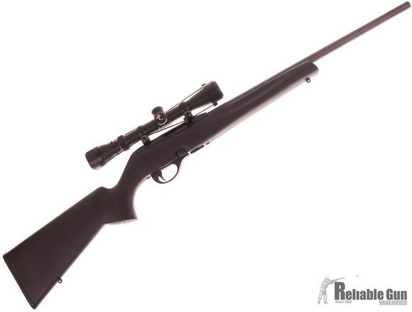 Picture of Used Remington 597 Semi Auto Rifle, 22 LR, 20'' Barrel, Black Synthetic Stock, 3-9x32 Scope, 1 Magazine, Very Good Condition