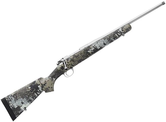 "Picture of Kimber Model 84M Adirondack Bolt Action Rifle - 6.5 Creedmoor, 18"", Threaded, Stainless, Kevlar/Carbon Fiber w/Gore Optifade Elevated II Stock, 4rds, Adjustable Trigger, 3-Position Safety"