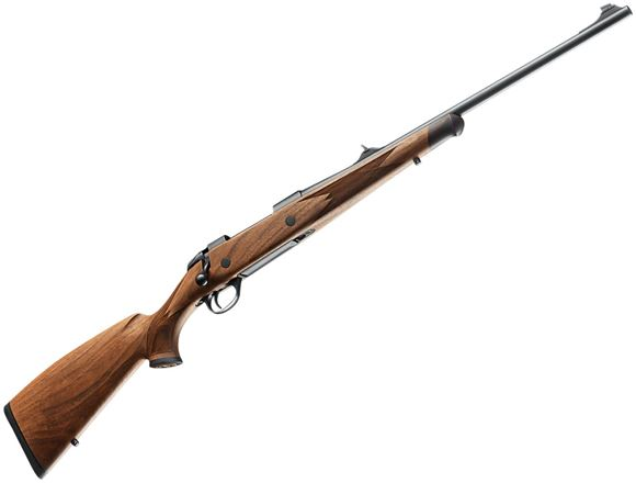 "Picture of Sako 85 Bavarian Bolt Action Rifle - 9.3x62mm, 22-7/16"", Cold Hammer Forged Light Hunting Contour, Matte Blue, Bavarian Style Matte Oil Walnut Stock w/Palm Swell, 5rds, Adjustable Iron Sights, Single Set 2-4lb Adjustable Trigger"