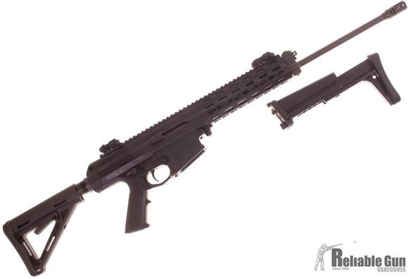 "Picture of Used Robinson Armament XCR-L Semi-Auto 223 Rem, 18.6"" Barrel, With Flip Up Sights, NEA Stock Adapter & Magpul MOE Stock, Plus Original Folding Stock, 2 Mags, Case, Good Condition"
