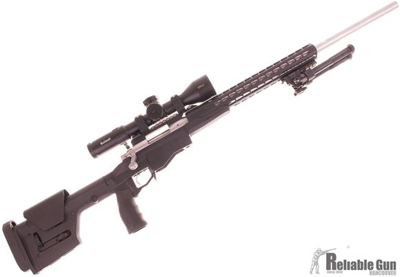 Picture of Used Remington 700 5R Mil Spec Bolt Action Rifle, .308 Win, Remington PCR Chassis, PRS Gen 3 Stock, 2 Mags, Bushnell DMRii Pro 3.5-21x50 Scope, Nightforce Anti Cant Device, Voodoo Cover/Carrier, Excellent Condition