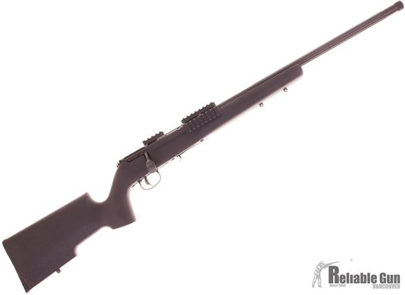 Picture of Used Savage Arms Model 93R17 TRR-SR Bolt Action Rifle, .17 HMR, Threaded Fluted Barrel, Scope Mount/Tri Rail 2 x 10rd and 1 x 5rd Mags, Target Stock, Good Condition