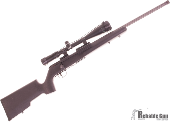 Picture of Used Savage Arms Mark II TRR-SR Bolt Action Rifle, .22 LR, Threaded Fluted Barrel, Tri Rail Mount, Target Stock, Tasco 6-24 AO Scope, 2 x 10rd Mags, Excellent Condition