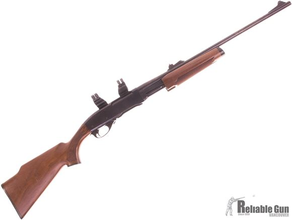 Picture of Used Remington 7600 Pump Action Rifle, 30-06, 22'' Barrel with sights, Walnut Monte Carlo Stock, 1 Magazine, Good Condition
