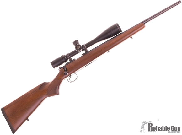 Picture of Used CZ 452-2E ZKM Varmint Bolt Action Rifle - 22 LR, Heavy Barrel, Walnut Stock,Trigger, Free Float and Bedded, 5rd Magazine, Bushnell Elite 3200 5-15x40 MilDot/MOA, Leupold Rings, One Mag, Excellent Condition.