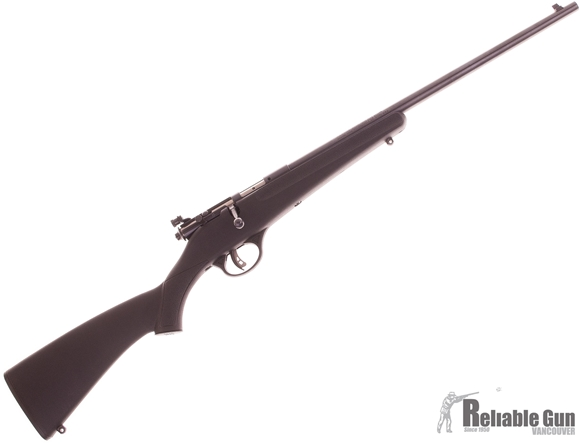 Picture of Used Savage Rascal Single Shot Bolt Action Rifle, 22 LR, Black Synthetic Stock, Peep Sight, Very Good Condition