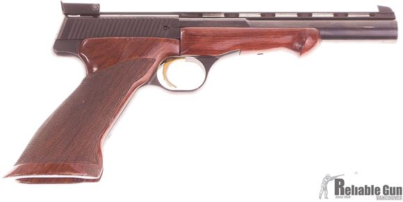 """Picture of Used Browning Medallist Semi-Auto .22LR, 6.5"""" Heavy Barrel With Vented Rib, Target Grips, 1 Magazine, Good Condition"""
