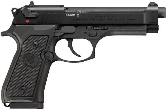 """Picture of Beretta 92FS DA/SA Rimfire Pistol - 22 LR, Black, 5"""", Ambidextrous Safety/Decocker, Lanyard Loop, Extra Dovetail Front Sight, Full Size Alloy Frame, 2x10rds"""