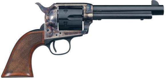 "Picture of Uberti 1873 Cattleman El Patron Single Action Revolver, 45 Colt, 5-1/2"", Blued/Case Hardened, Walnut Grip, 6rds"