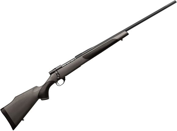 "Picture of Weatherby Vanguard DBM Bolt Action Rifle - 270 Win, 24"", Blued, Cold Hammer Forged Barrel, Grey Monte Carlo Griptonite Stock w/ Grip Inserts, Fluted Bolt Body, Adjustable Two-Stage Trigger, 3rds"