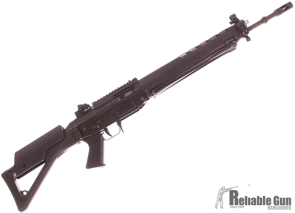 "Picture of Used Swiss Arms Black Special  5.56Nato, 20"", Black Receiver Black Stock With Bipod, Diopter Sights w/ 2 Magazines, Rail, Cheek Riser, Excellent Condition"