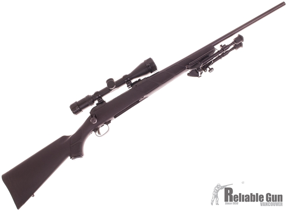Picture of Used Savage 11 FXP, 270 Win, 22'' Barrel, Accutrigger, Black Synthetic Stock, Weaver 3-9x40 Scope, Bipod, 1 Magzine, Excellent Condition