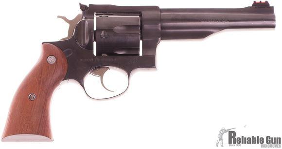 """Picture of Used Ruger Redhawk Revolver, 44 Magnum, Blued, 5.5"""" barrel, 6 Shot, Hardwood Grips, Excellent Condition"""