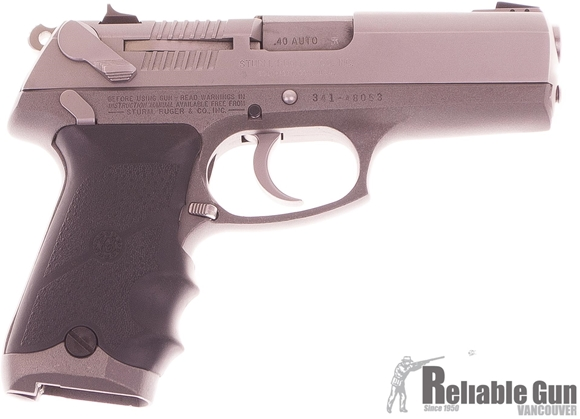 Picture of Used Ruger P94 Semi-Auto 40 S&W, 4.2'' Barrel, Hogue Grips, 3 Mags & Hard Case, Good Condition