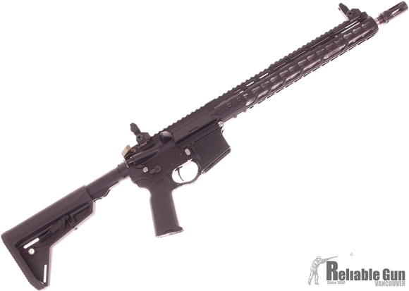 Picture of Used V-Seven AR-15 Semi Auto Rifle, 223/5.56, 14.5'' Stainless Fluted Barrel, Lightweight Faxon Bolt Group, Giessele Charging Handle, Titanium Take Down Pins, Titanium Mag Catch, Troy Battle Sights, Magpul MOE SL Stock, New Condition