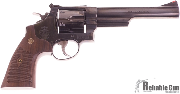 "Picture of Used S&W Model 29-10 S&W Classics DA/SA Revolver - 44 Rem Mag, 6-1/2"", Blued, Carbon Steel Frame & Cylinder, Large Frame (N), Altamont Service Walnut Grip, 6rds, Red Ramp Front & Adjustable Rear Sights. Excellent Condition"
