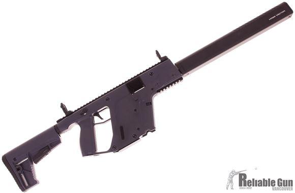 "Picture of Used KRISS Vector Gen II CRB Enhanced Semi-Auto Carbine - 45Auto, 18.6"", w/Square Enhanced Black Shroud, Cerakote Combat Grey, M4 Stock Adaptor w/Defiance M4 Stock, 3 Magazines, Flip Up Front & Rear Sights, Original Case, Good Condition"
