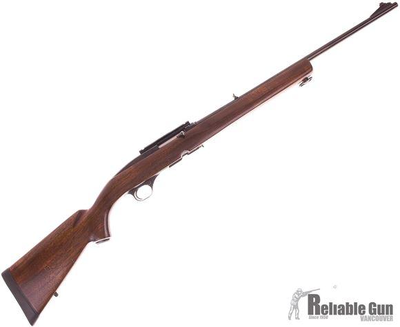 Picture of Used Winchester Model 100 Semi Auto Rifle, 308 Win, 22'' Barrel w/Sights, Wood Stock, Weaver Base, 1 Magazine, Good Condition