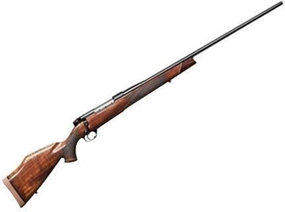 "Picture of Weatherby Mark V Deluxe Bolt Action Rifle - 6.5-300 Wby Mag, 26"", 1:8"", Stainless Steel Fluted, Gloss AA Walnut Monte Carlo Stock w/Raised Comb, Rosewood Forend Cap, 3rds"