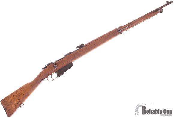 Picture of Used Carcano 91/41 Bolt-Action 6.5x52 Carcano, Full Military Wood, 1942 Production, One Clip, Some Pitting On Receiver, Otherwise Good Condition
