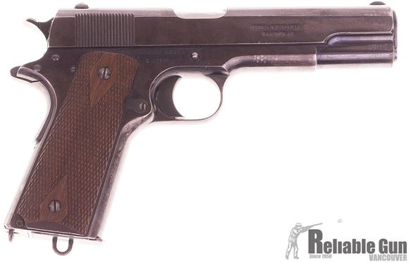 Picture of Used Colt 1911 Semi-Auto 45 ACP, 1914 Canadian Government Purchase, Includes Letter of Authentication, Some Holster & Handling Wear, Otherwise Good Condition