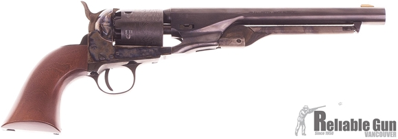 "Picture of Used Pietta 1861 Navy Single-Action 36 Cal Blackpowder, 8"" Barrel, Case Hardened Steel Frame, With Powder Flask & Bullet Mold, Original Box, Excellent Condition"
