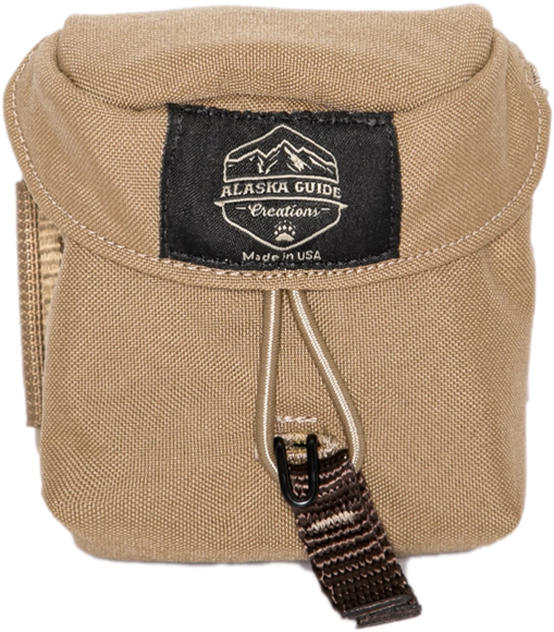 "Picture of Alaska Guide Creations Rangefinder Pouch - Coyote Brown, Rangefinder Pouch, 3 1/2"" (Width) x 4 1/2"" (Height) x 2"" (Depth)"