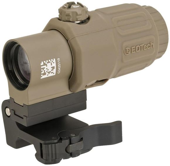 Picture of EOTech Holographic Weapon Sights - Model G33 Magnifier, 3x, TAN, w/Switch To Side Quick Detach Lever Mount