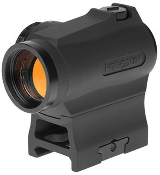 Picture of Holosun Reflex Sights - HS403R Micro Reflex Sight, Black, 2 MOA GOLD Dot,10DL & 2NV Brightness Settings, Rotary Switch, Multi-Layer Coating, Waterproof IP67, w/Lower 1/3 AR Height Mount & Low Base, CR2032, 100,000 hrs
