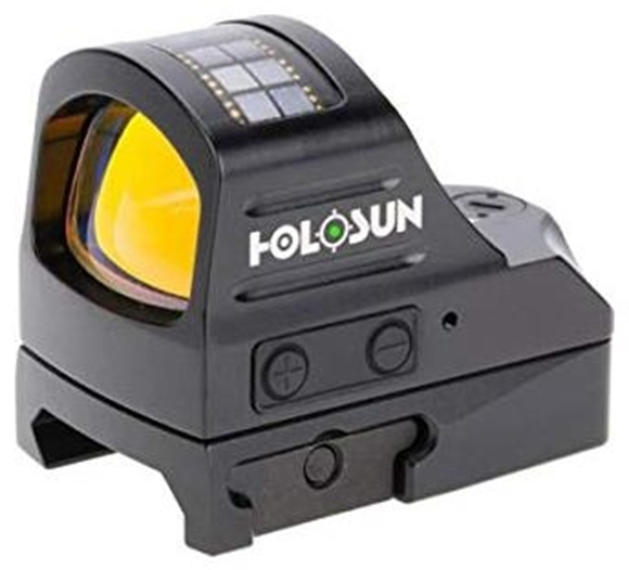 Picture of Holosun Reflex Sights - HS507C Green Micro Reflex Sight, Black, 2 MOA Green Dot; 32 MOA Circle, 10 DL & 2 NV Compatible, 7075 Aluminum Housing, Waterproof 1m, Solar Cell, CR2032, Up to 100,000 hrs