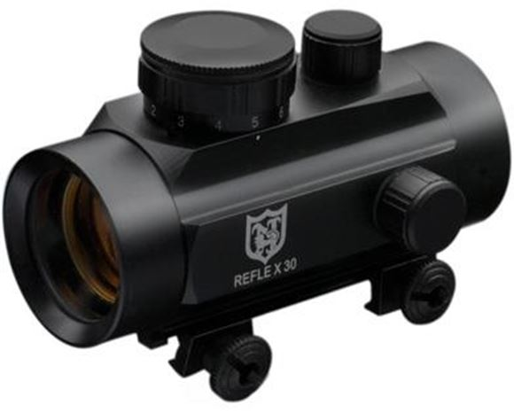 Picture of Nikko Sterling Optic - Reflex Red Dot, 30mm Tube, 4 MOA, Lithium battery, 3/8 Scope Ring Mounts & Extension Tube