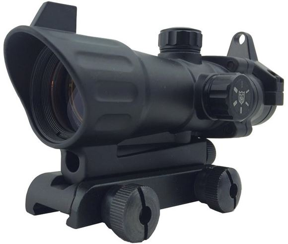 """Picture of Nikko Sterling Optic - Reflex Red Dot, LX3 Integrated 7/8"""" Mount, Prism scope, 4x Magnification, 12 Position Dot Intensity, Red/green Illumination"""