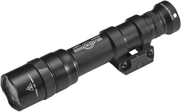 Picture of SureFire M600DF Dual Fuel LED Scout Light - 1500 lumens, 1.5 hours, TIR Lens, x1 18650 Battery & Charge Cable (included),  Mil-Spec Hard-Anodized, Black