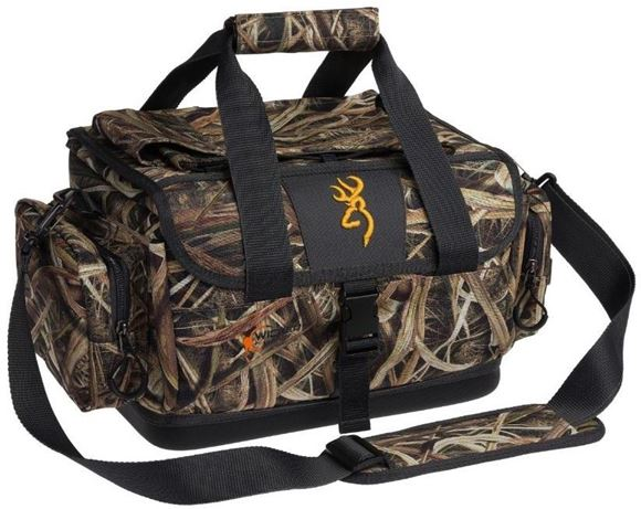 "Picture of Browning Shooting Accessories, Bags & Pouches - Wicked Wing Blind Bag, Mossy Oak Shadow Grass Blades Camo, Removable Waterproof Inner Compartment, Molded Base, Clear Internal Zippered Pocket, Zippered Accessory Pockets, 12""x18""x11"""