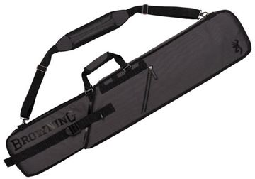 "Picture of Browning Gun Cases, Slider Gun Cases - Max-Slider Shotgun Case, Grey & Black Water-Resistant Ripstop Fabric, Telescoping Design, Side Pockets, Padded Strap, Internal Foam Padding,  49"" to 54"" L x 4"" D x 9"" H"